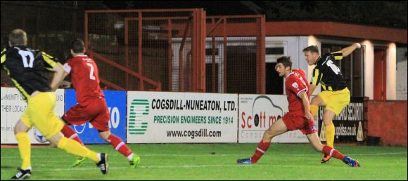 Substitute Matt Groves fires in the equaliser for City at Tamworth